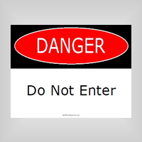 Free Printable Danger Signs