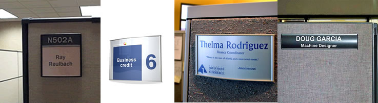 Office Signs Pro LLC :: Name Plates :: Cubicle Nameplates