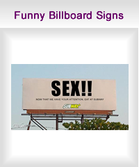 funny billboard signs