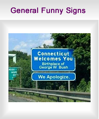 general funny signs