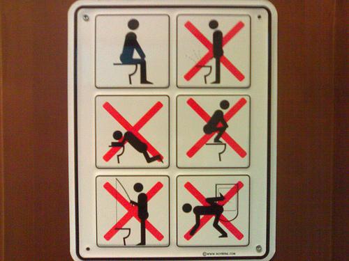 funny bathroom signs. Funny Restroom Signs 1